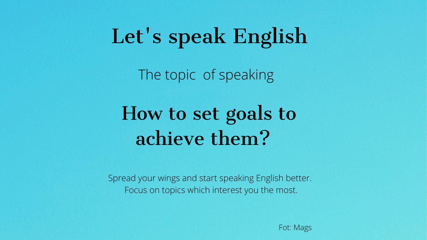 How to set goals?